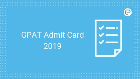 GPAT admit card embibe