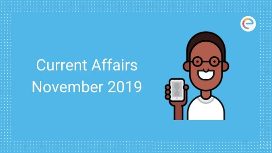 Current Affairs November 2019