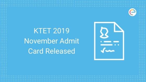 ktet admit card 2019 november released embibe