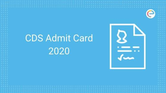 CDS Admit Card 2020 is written with an Image of Hall Ticket in right hand side. Embibe Log is present at right hand top side.