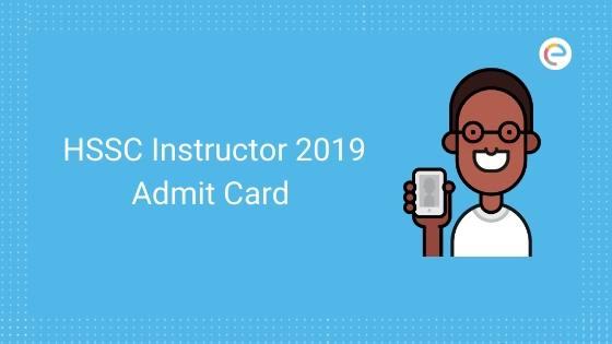 hssc instructor admit card
