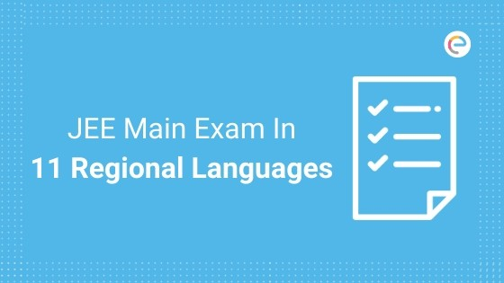 JEE Main in 11 regional languages