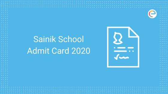 Sainik School Admit Card 2020 embibe
