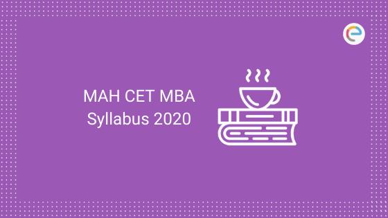 MAH CET MBA Syllabus 2020
