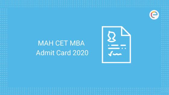 MAH CET MBA Admit Card 2020