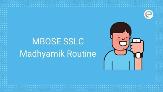 MBOSE SSLC Routine 2020 Released @ mbose.in | Download Meghalaya Board Class 10 Date/ Time Table PDF
