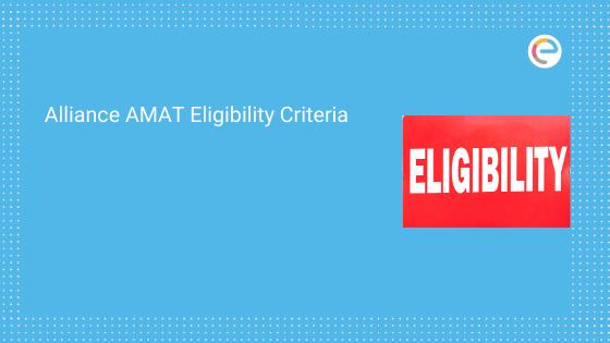 Alliance AMAT Eligibility Criteria