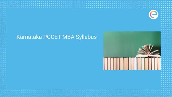 Karnataka PGCET MBA Syllabus