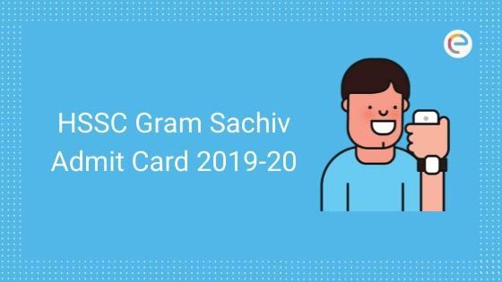 HSSC Gram Sachiv Admit
