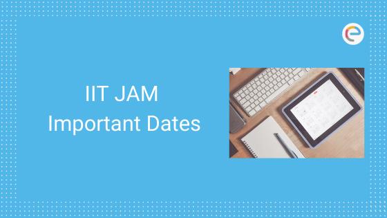 IIT JAM Important Dates