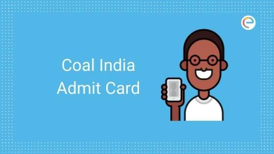 coal india admit card