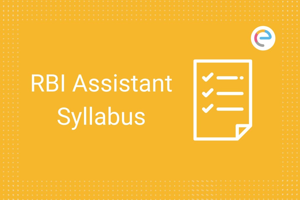 detailed syllabus of rbi assistant exam 2013