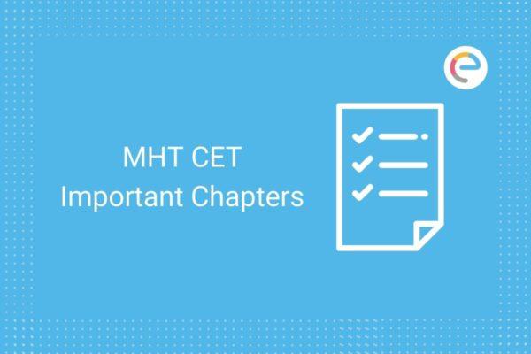 MHT CET Important Chapters