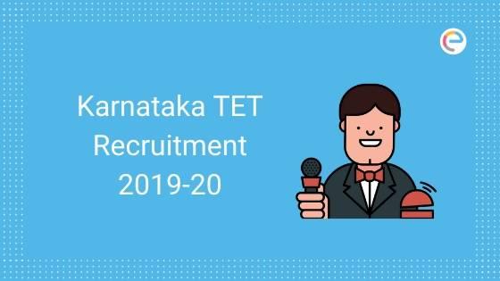 Karnataka TET Recruitment 2020 KARTET 2019 embibe