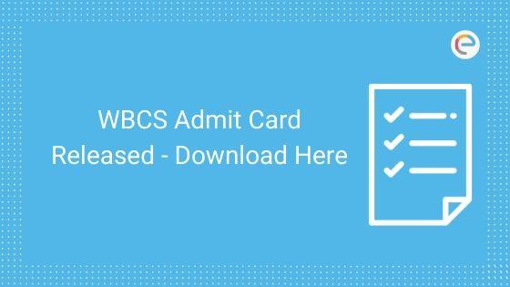 wbcs admit card
