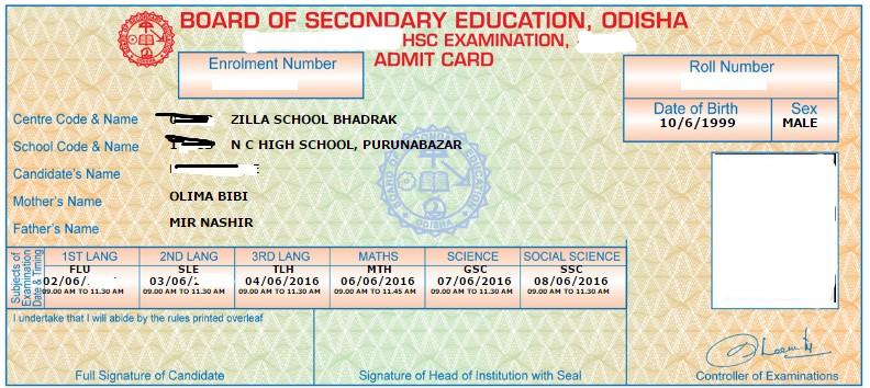 bse odisha admit card 2020