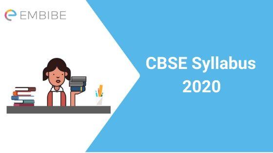 CBSE Syllabus 2020
