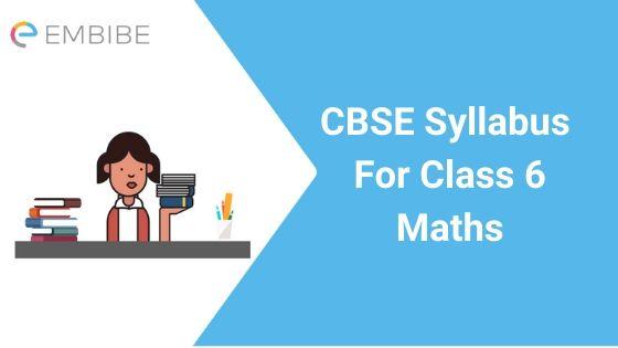 CBSE Syllabus For Class 6 Mathematics 2020