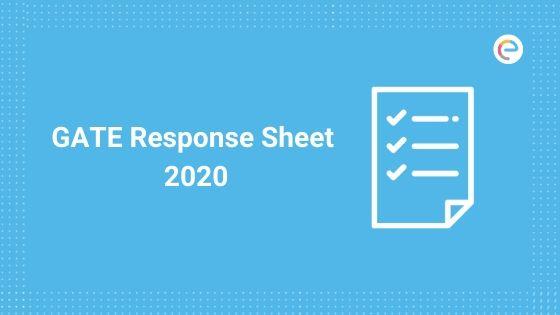 GATE Response Sheet 2020