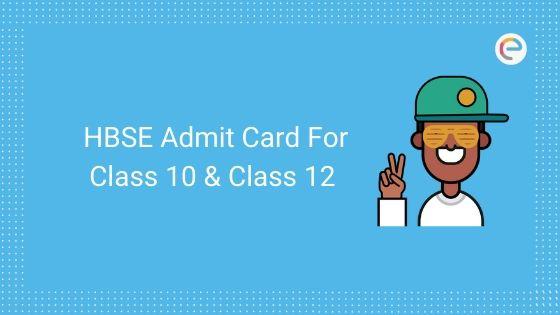 hbse admit card