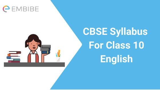 CBSE Syllabus for Class 10 English