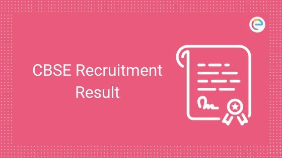 CBSE Recruitment Result