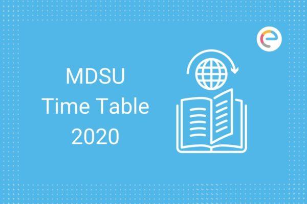 mdsu time table