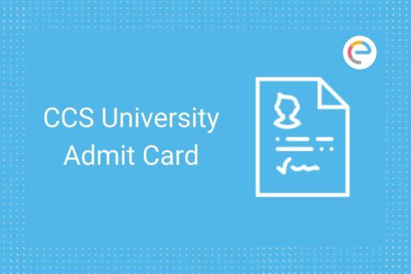 CCS University admit card