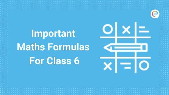 Maths Formulas For Class 6