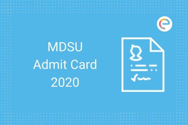 mdsu admit card