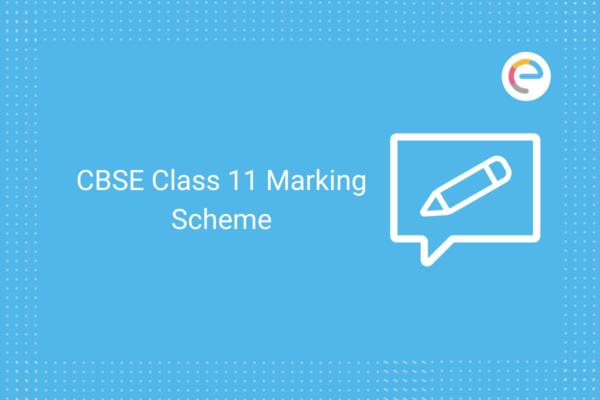 class 11 marking scheme