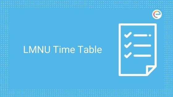 lmnu time table