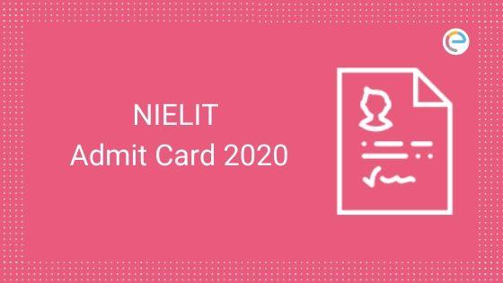 NIELIT Admit Card