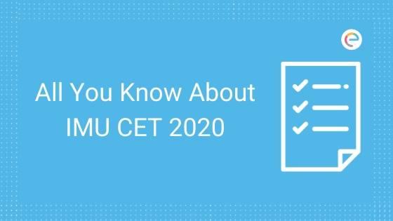 IMU CET 2020