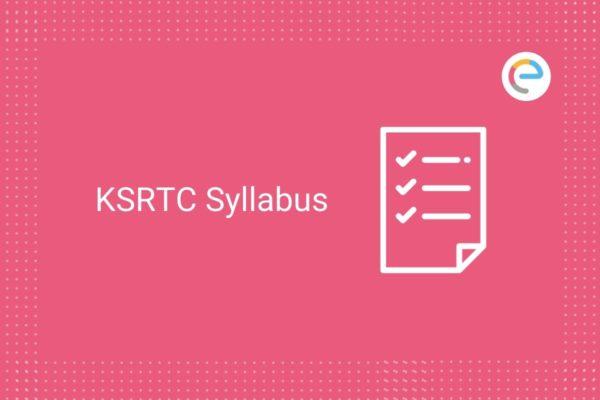 KSRTC Syllabus