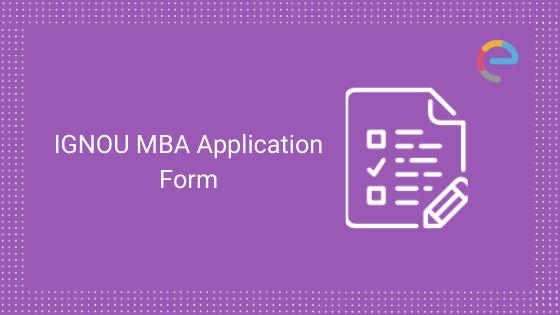 IGNOU MBA Application Form