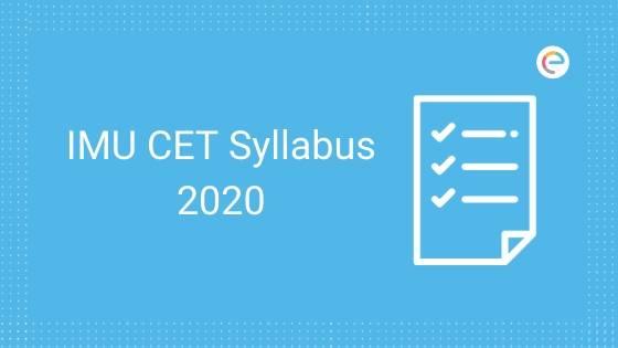 IMU CET Syllabus 2020