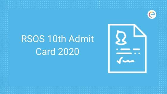 RSOS 10th Admit Card 2020