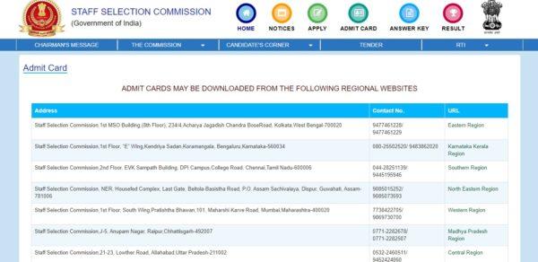 SSC CHSL Admit Card