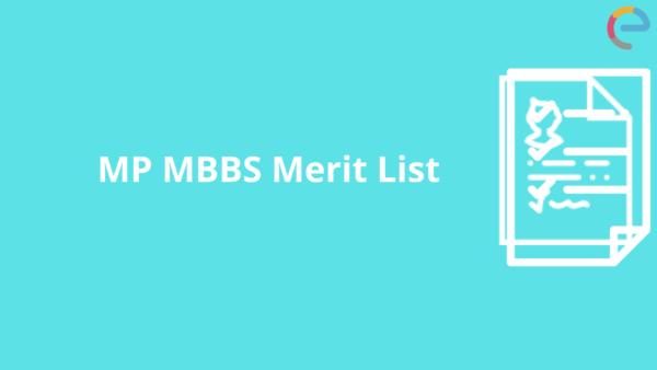 MP MBBS Merit List