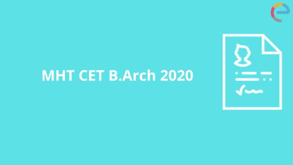 MHT CET B.arch