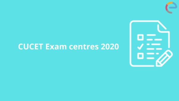 CUCET Exam centres