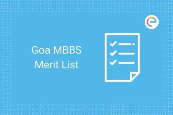 Goa MBBS Merit List