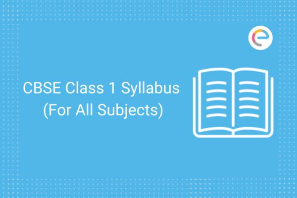 cbse class 1 syllabus