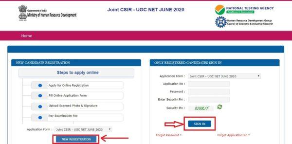 csir net 2020 new registration link