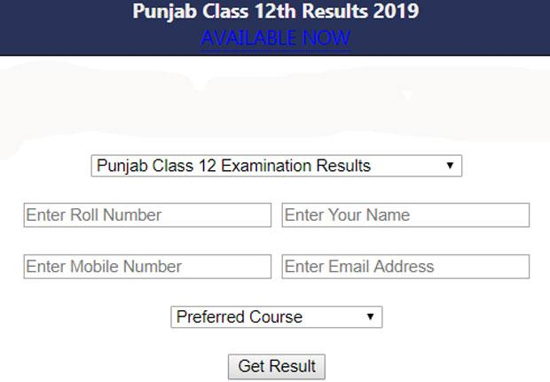Punjab Class 12 Examination Results