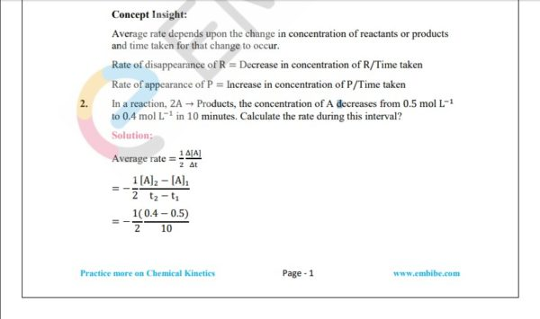 NCERT Solutions for Class 12 Chemistry Chapter 4 Chemical Kinetics question 1