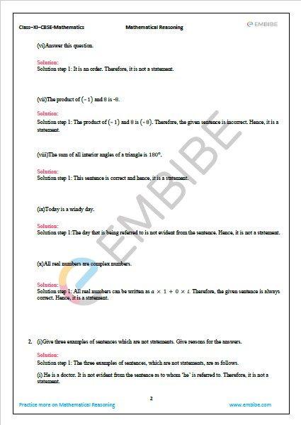 NCERT Solutions For Class 11 Maths Chapter 14.1