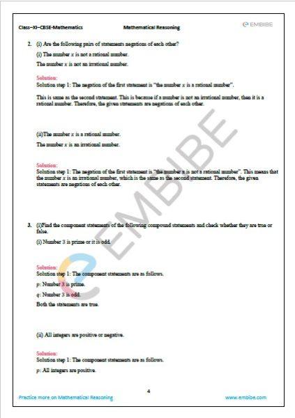NCERT Solutions For Class 11 Maths Chapter 14.2