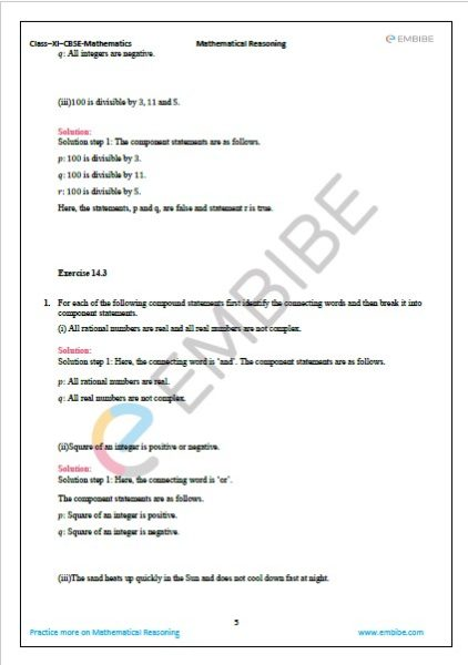 NCERT Solutions For Class 11 Maths Chapter 14 Exercise 14.3